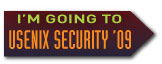 I'm going to USENIX Security '09