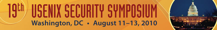 USENIX Security '10 Banner