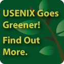USENIX Goes Greener! Find Out More.
