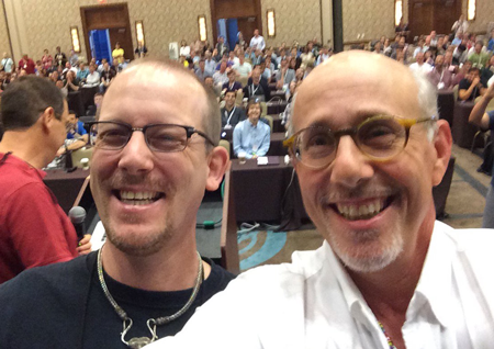 Niels Provos and Peter Honeyman after winning the 2016 USENIX Security Test of Time Award