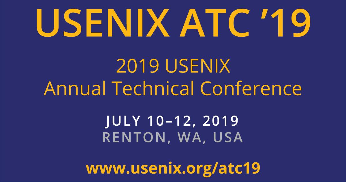 USENIX ATC '19 Technical Sessions | USENIX