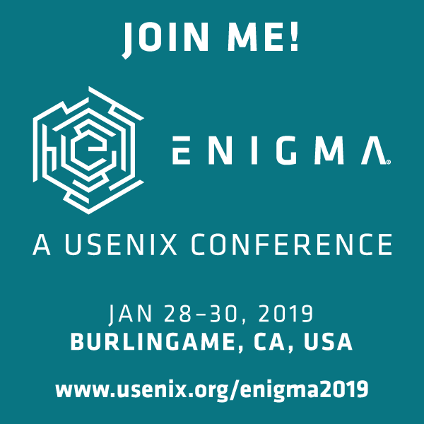 Join Me at Enigma 2019 button