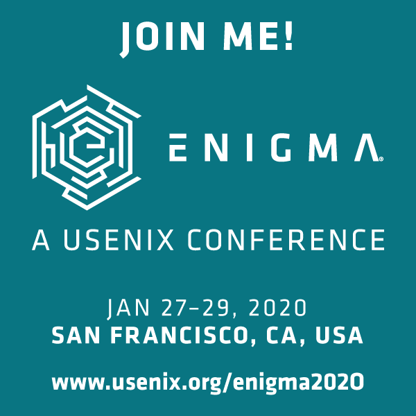 Join Me at Enigma 2020 button