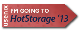 I'm going to HotStorage '13 button