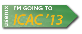 I'm going to ICAC '13 button