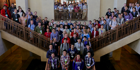 Students at OSDI '14, including student grant recipients