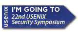 I'm going to USENIX Security '13 button