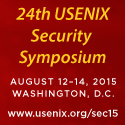 USENIX Security '15 button