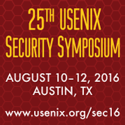 USENIX Security '16 button