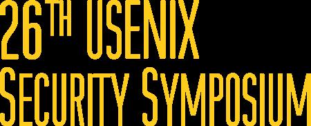 26th usenix security symposium
