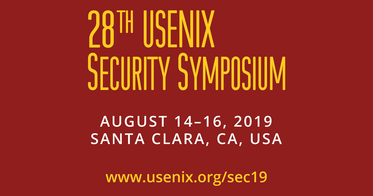 USENIX Security '19 Technical Sessions | USENIX