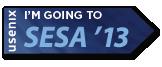 I'm going to SESA '13 button