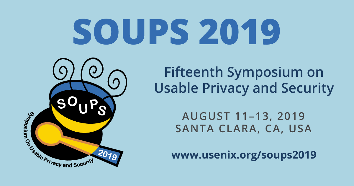 SOUPS 2019 Call for Papers | USENIX