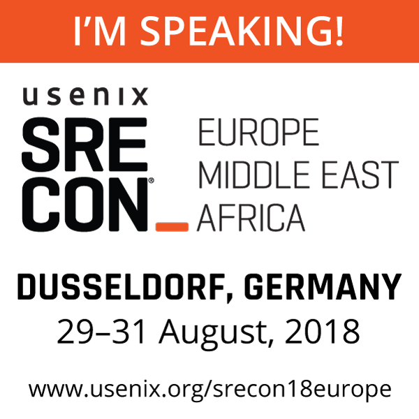 SREcon18 EMEA I'm Speaking button