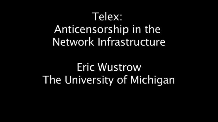 Telex: Anticensorship in the Network Infrastructure | USENIX