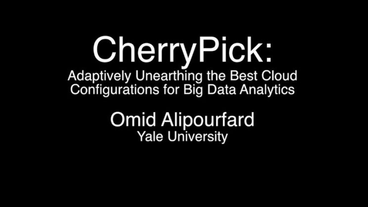 CherryPick: Adaptively Unearthing the Best Cloud Configurations for