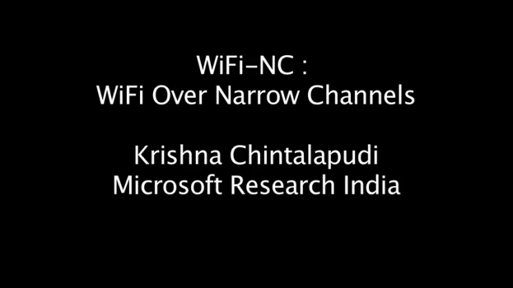 WiFi-NC : WiFi Over Narrow Channels   USENIX