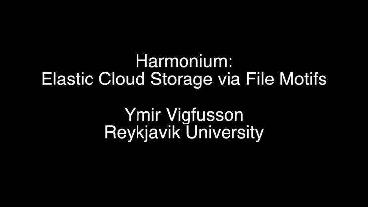 Harmonium: Elastic Cloud Storage via File Motifs | USENIX