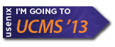 I'm going to UCMS '13 button