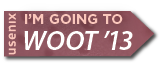 I'm going to WOOT '13 button